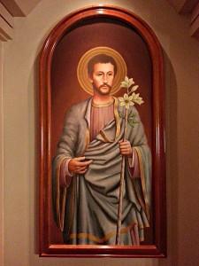 St_Joseph,_portrayed_as_a_young_man (1) - Hospital Universitario Austral, Pilar Partido. Author Gabriel Sozzi